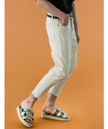 <monkey time> WHITE KATURAGI CUT OFF SKINNY PANTS/スキニーパンツ