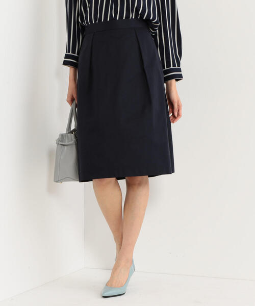 <closet story>グログラン タックフレアスカート