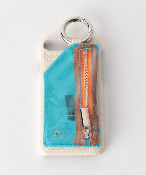 <AJEW>CADENA PVCクリアジップ iPhone6/6S/7/8 ケース