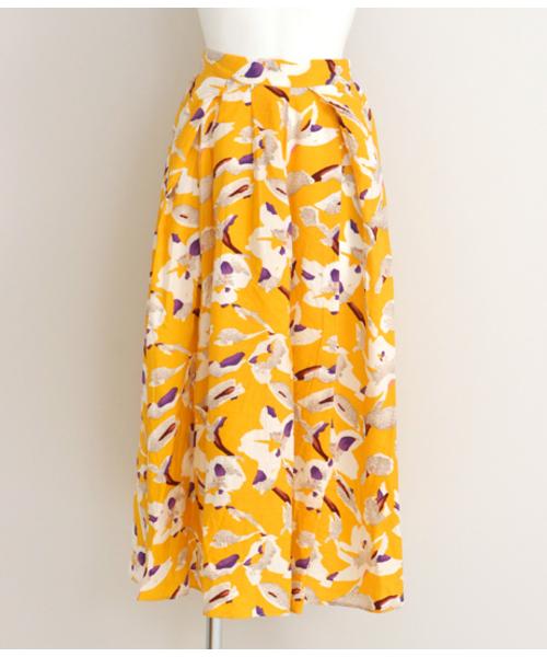 Settimissimo(セッティミッシモ)の「フラワーモチーフポイントカラーフレアスカート(スカート)」 詳細画像