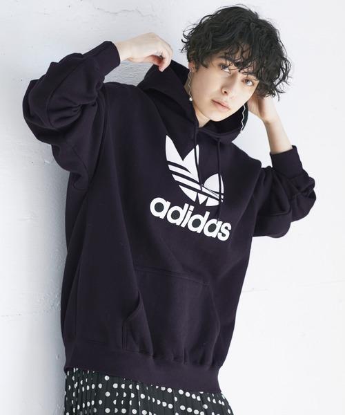 adidas/アディダス TREFOIL HOODIE/トレフォイル フーディー プルオーバーパーカー / オーバーサイジング