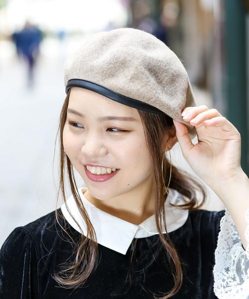 無(ム)の「ミリタリーベレー(ハンチング/ベレー帽)」|ベージュ
