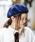 無(ム)の「ミリタリーベレー(ハンチング/ベレー帽)」|ネイビー