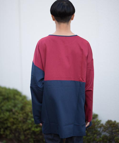 GGD SELECT / ビッグシルエット バイカラーTシャツ