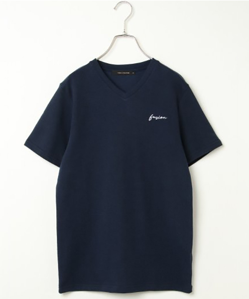 1ポイント刺繍半袖Tシャツ