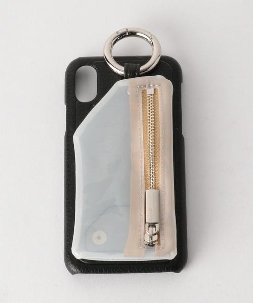 <AJEW>CADENA PVCクリアジップ iPhoneX/XS ケース