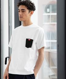 別注[ チャムス ]SC CHUMS GLR カラー ポケット Tシャツ