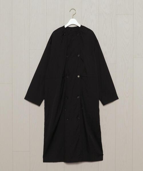 <H>SHEER NYLON COAT DRESS/ワンピース