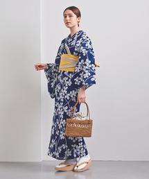 <竺仙(ちくせん)>萩 綿絽地染納戸 浴衣