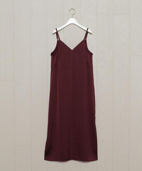 <H>SATIN CAMISOLE DRESS/ワンピース