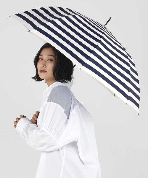 Wpc.(ダブルピーシー)の「「濡らさない傘」アンヌレラ unnurella long(長傘)」|ホワイト×ブルー