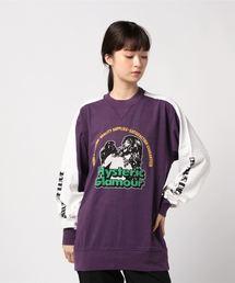 HYS PETWORLD リブ付Tシャツパープル
