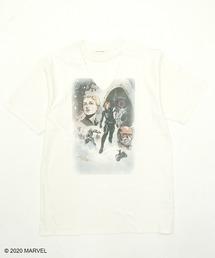 【Black Widow】VネックTシャツホワイト