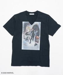 【Black Widow】VネックTシャツブラック