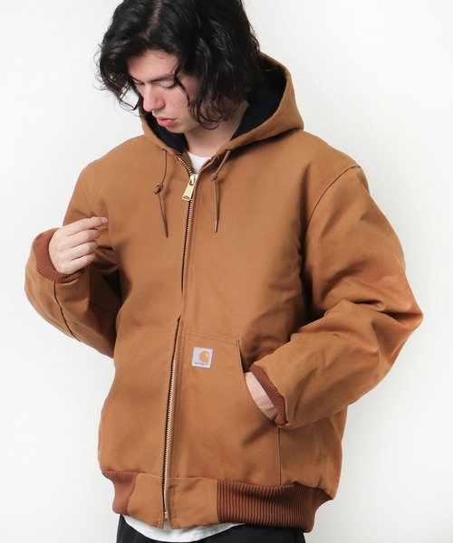 【 carhartt / カーハート 】 J140 Quilted Flannael Lined Firm Duck Active Jacket キルテッド フランネル ラインド ダック アクティブジャケット・・