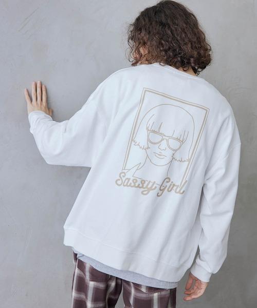 裏毛ビッグシルエット イラストデザイン クルースウェット -2021SPRING-