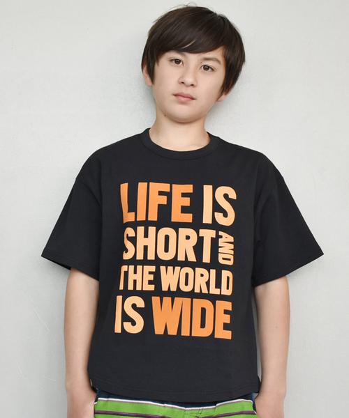 Typography BIGTシャツ(LIFE)/csc810113