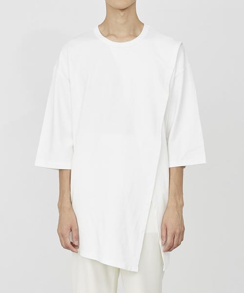JUHA(ユハ)の「WRAP OVER TEE(Tシャツ/カットソー)」 ホワイト