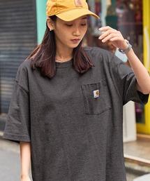 carhartt(カーハート) ビッグシルエット ポケット半袖 ロゴ Tシャツ Workwear Pocket 1/2 Sleeve T-Shirtsグレー系その他