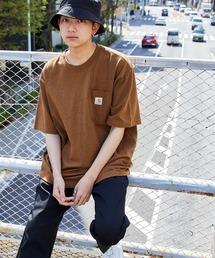 carhartt(カーハート) ビッグシルエット ポケット半袖 ロゴ Tシャツ Workwear Pocket 1/2 Sleeve T-Shirtsブラウン系その他