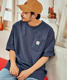 carhartt(カーハート) ビッグシルエット ポケット半袖 ロゴ Tシャツ Workwear Pocket 1/2 Sleeve T-Shirtsブルー系その他