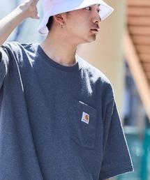 carhartt(カーハート) ビッグシルエット ポケット半袖 ロゴ Tシャツ Workwear Pocket 1/2 Sleeve T-Shirtsブルー系その他2
