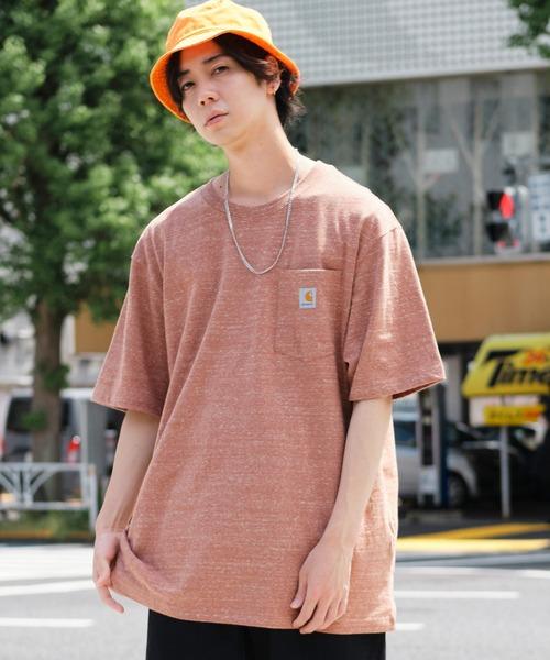 carhartt/カーハート Workwear ビッグシルエット ポケット半袖 ロゴ Tシャツ  ワッペン トップス