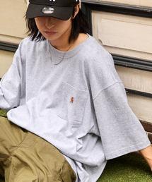 carhartt(カーハート) ビッグシルエット ポケット半袖 ロゴ Tシャツ Workwear Pocket 1/2 Sleeve T-Shirtsヘザーグレー