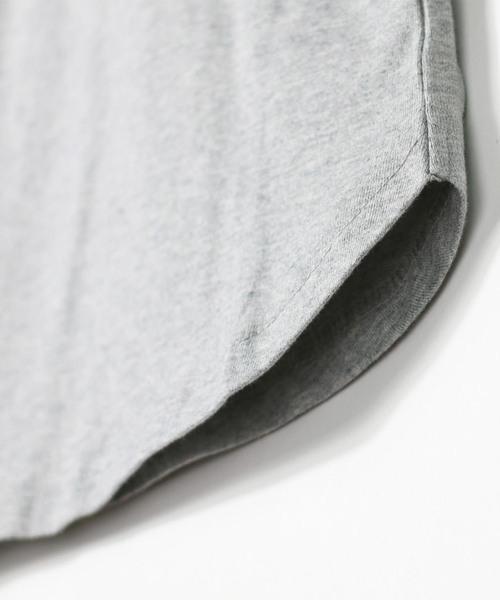 袖チェック半袖Tシャツ