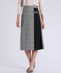 CLEAR IMPRESSION (クリアインプレッション)のサイドベルトチェック柄スカート(スカート)