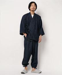 utatane(ウタタネ)のデニム作務衣 メンズ(着物)