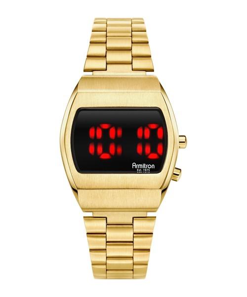 ARMITRON NEWYORK(アーミトロンニューヨーク)の「ARMITRON 腕時計 デジタルウォッチ 80's レトロシリーズ(デジタル腕時計)」 ゴールド