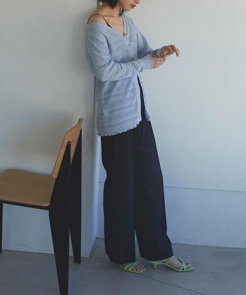 【EMMEL REFINES】EM シアーボーダー 2WAYトップス
