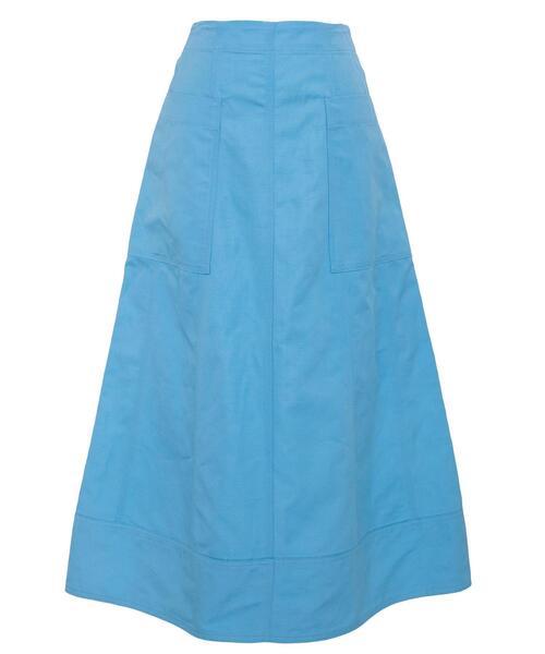 Drawer  オックス切り替えフロントポケットスカート