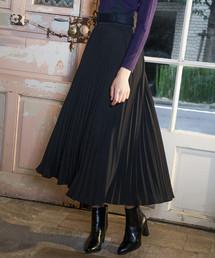 Andemiu(アンデミュウ)の【WEB限定】サスペンダーツキプリーツスカート819346(スカート)