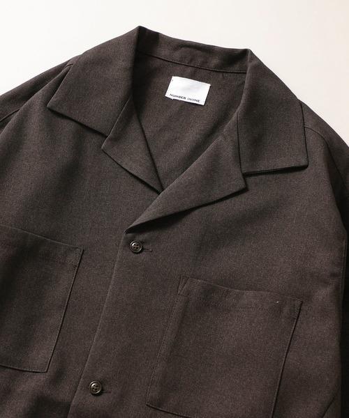 NUMBER (N)INE(ナンバーナイン)の「【NUMBER (N)INE】《別注》ウール ライク ナチュラル ストレッチ CPOシャツ ジャケット / セットアップ 可(シャツ/ブラウス)」|詳細画像