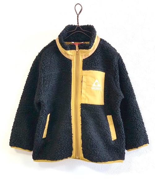 GERRY(ジェリー)の「【GERRY】ボアフリーススタンドジャケット(80〜160cm)(ブルゾン)」|ブラック