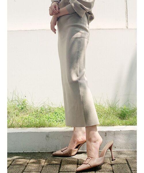 GYDA(ジェイダ)の「スリットタイトスカート(スカート)」|ベージュ