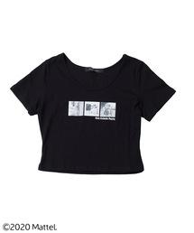 【バービー】ショート丈Tシャツブラック