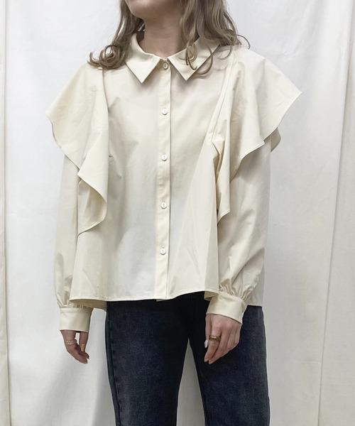 butterfly frill shirt