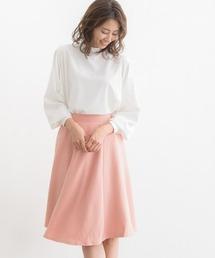 Pierrot(ピエロ)のふんわり360°美人ミモレ丈フレアスカート(スカート)