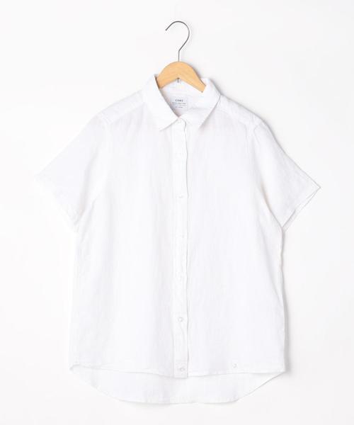 フレンチリネン半袖シャツ