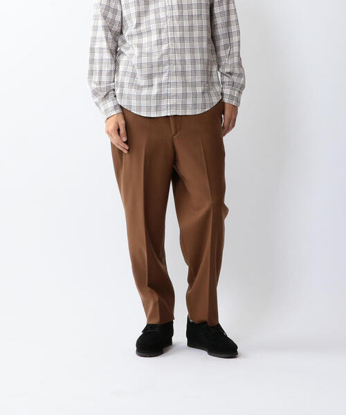 <Steven Alan> FLANO SUPER BAGGY TAPERED HALF EASY PANTS-JUST/パンツ