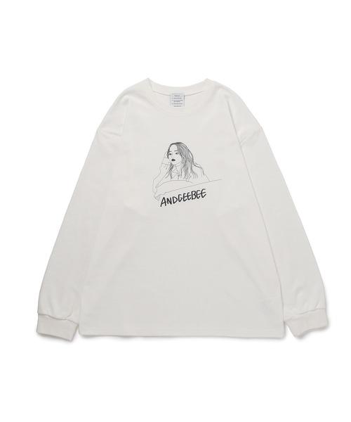 ANDGEEBEE(アンジービー)の「【UNISEX】イラストロンT(Tシャツ/カットソー)」|ホワイト