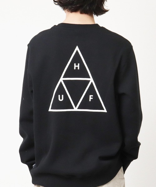 【 HUF / ハフ 】  トライアングルロゴ スウェット PF00101・・