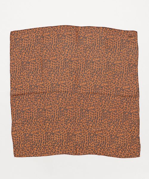 AZUL BY MOUSSY(アズールバイマウジー)の「シフォンレオパードスカーフ(バンダナ/スカーフ)」 オレンジ系その他