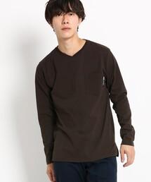 BASECONTROL(ベースコントロール)の長袖 Tシャツ Vネック WEB限定(Tシャツ/カットソー)