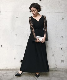 AMERI(アメリヴィンテージ)のLACE SLEEVE REFINED DRESS(ワンピース)