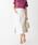 EMMEL REFINES(エメル リファインズ)の「SMF コットンツイル フロントチェーンスカート(スカート)」|オフホワイト