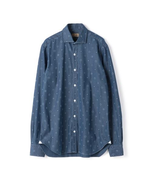 BARBA / 'DANDY LIFE' 小紋柄シャンブレーシャツ